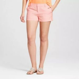 Merona Neon Orange Textured Chino Shorts
